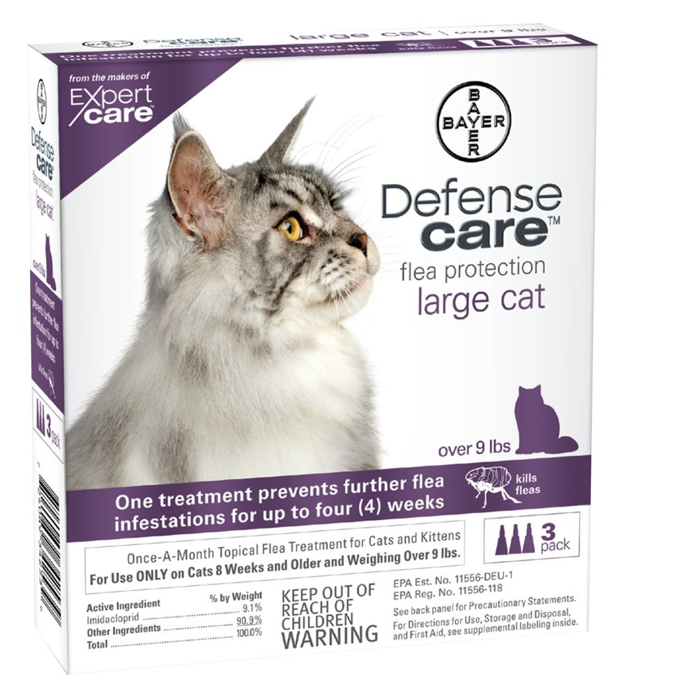 Bayer Defense Care Over 9 Lb Cat Flea Protection Size 9lbs And Over