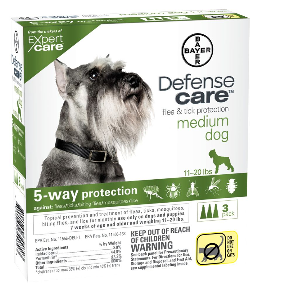 Bayer Defense Care 11 20 Lb Dog Flea And Tick Protection Size 3 Count