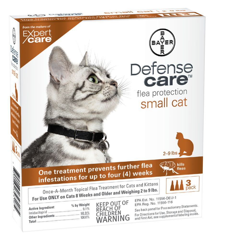 Bayer Defense Care 2 9 Lb Cat Flea Protection Size 3 Count