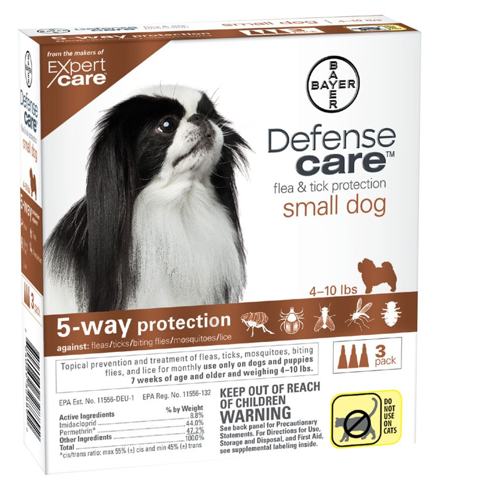 Bayer Defense Care 3 Pack Flea And Tick Dog Protection Size 4 10 Lbs