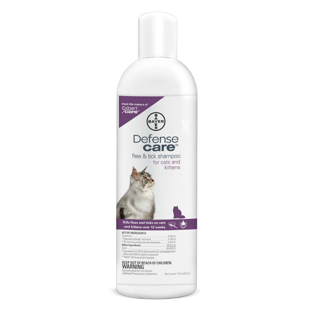 Bayer Defense Care Flea And Tick Cat Shampoo Size 12 Fl Oz