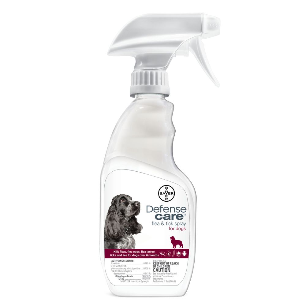 Bayer Defense Care Flea And Tick Dog Spray Size 12 Fl Oz
