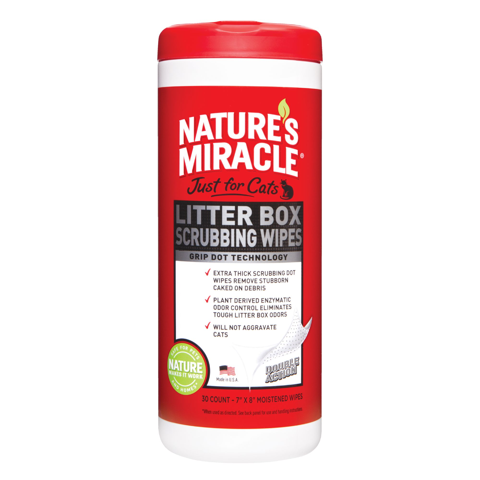 Nature's Miracle, Litter Box Wipes size: 30 Count 5218601