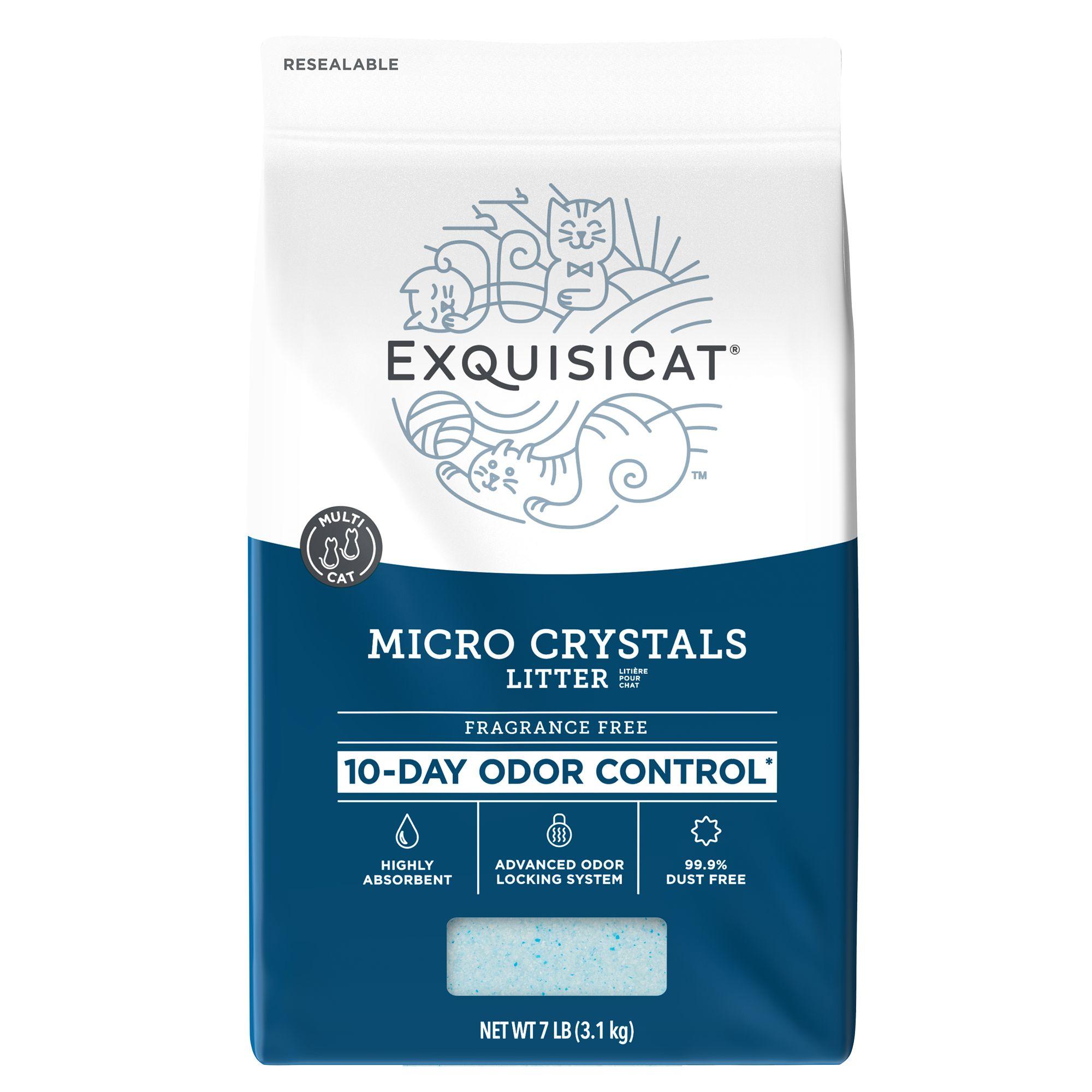 Exquisicat Micro Crystals Cat Litter Size 7 Lb