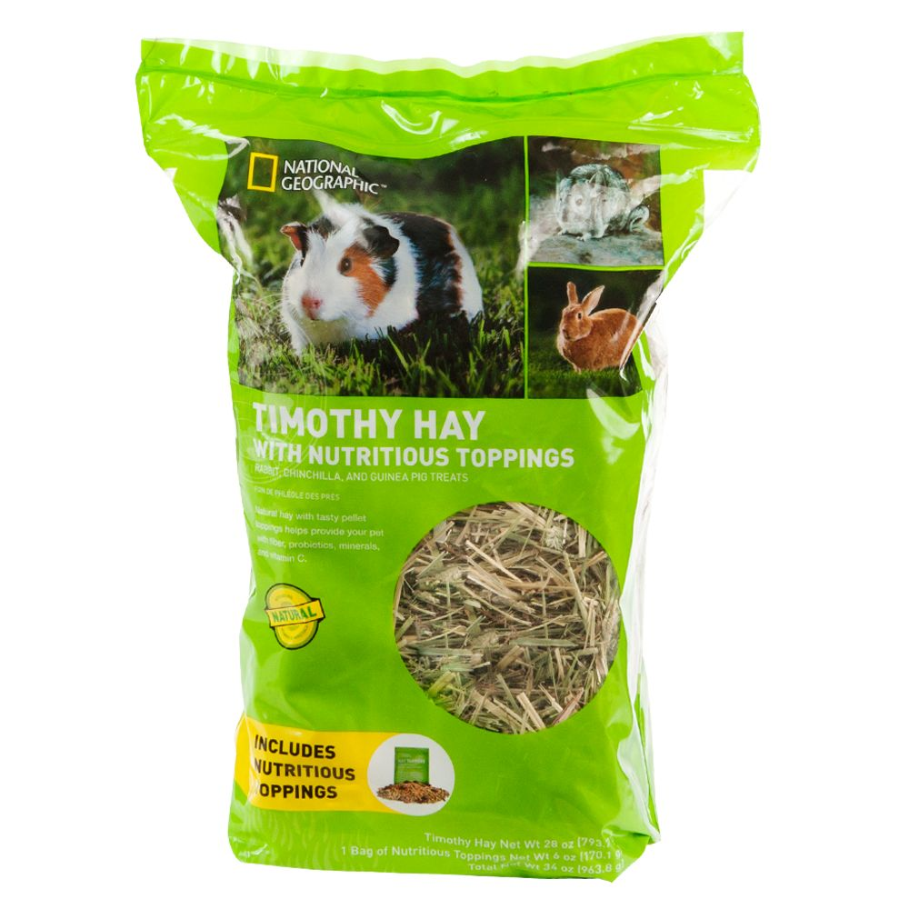 National Geographic Nutritious Topping Timothy Hay Small Pet Food Size 34 Oz
