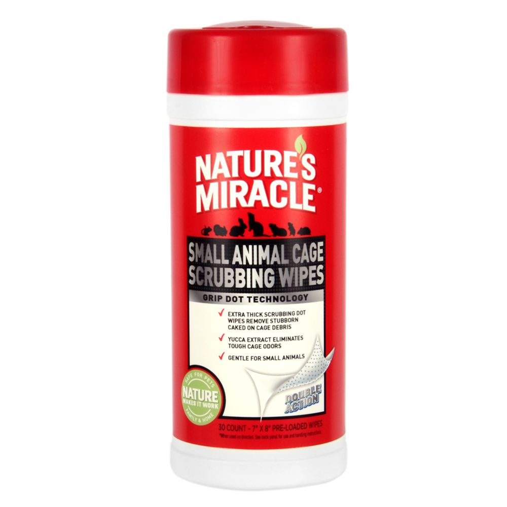 Nature's Miracle, Small Pet Cage Wipes 5219478
