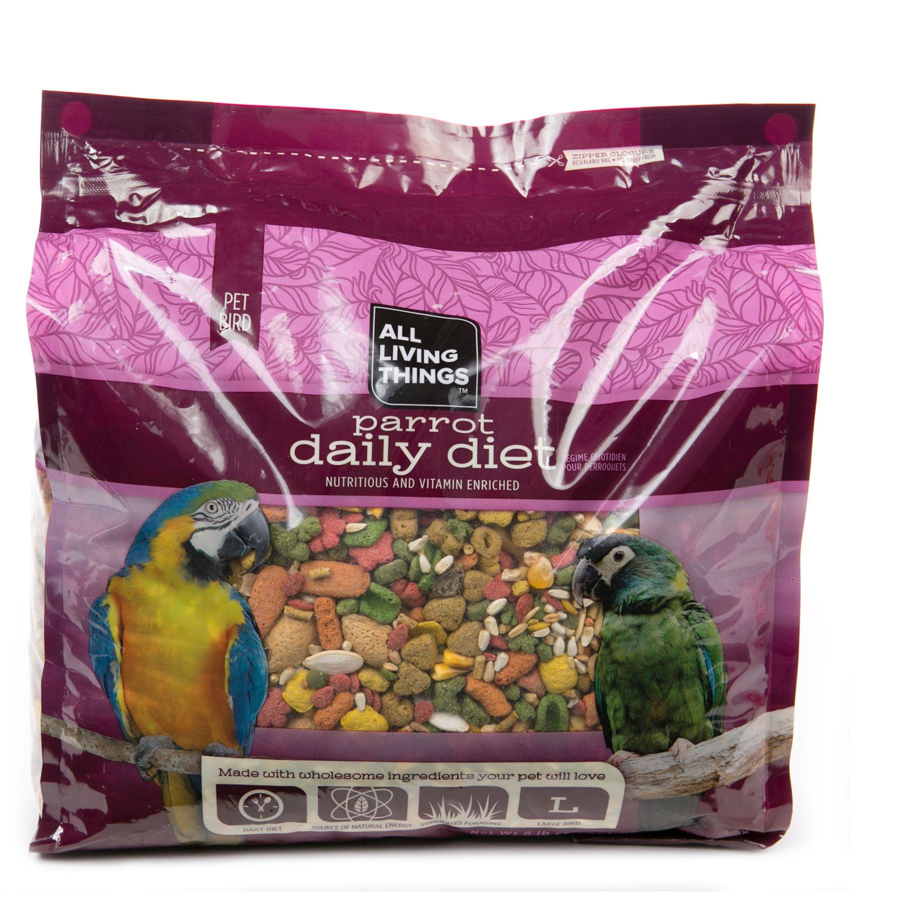 All Living Things® Parrot Daily Diet size: 8 Lb 5219671