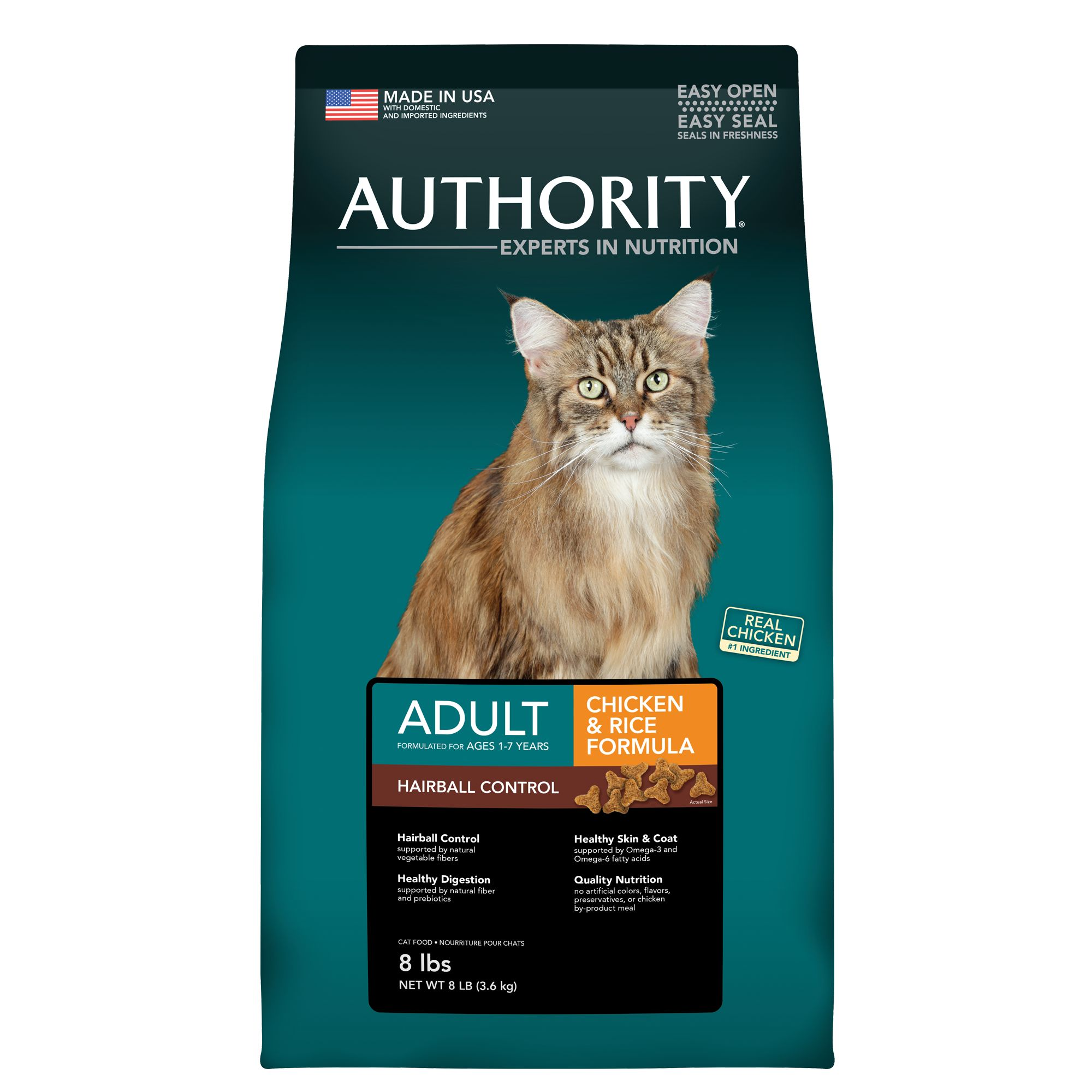 Authority Hairball Control Adult Cat Food size: 8 Lb 5219825