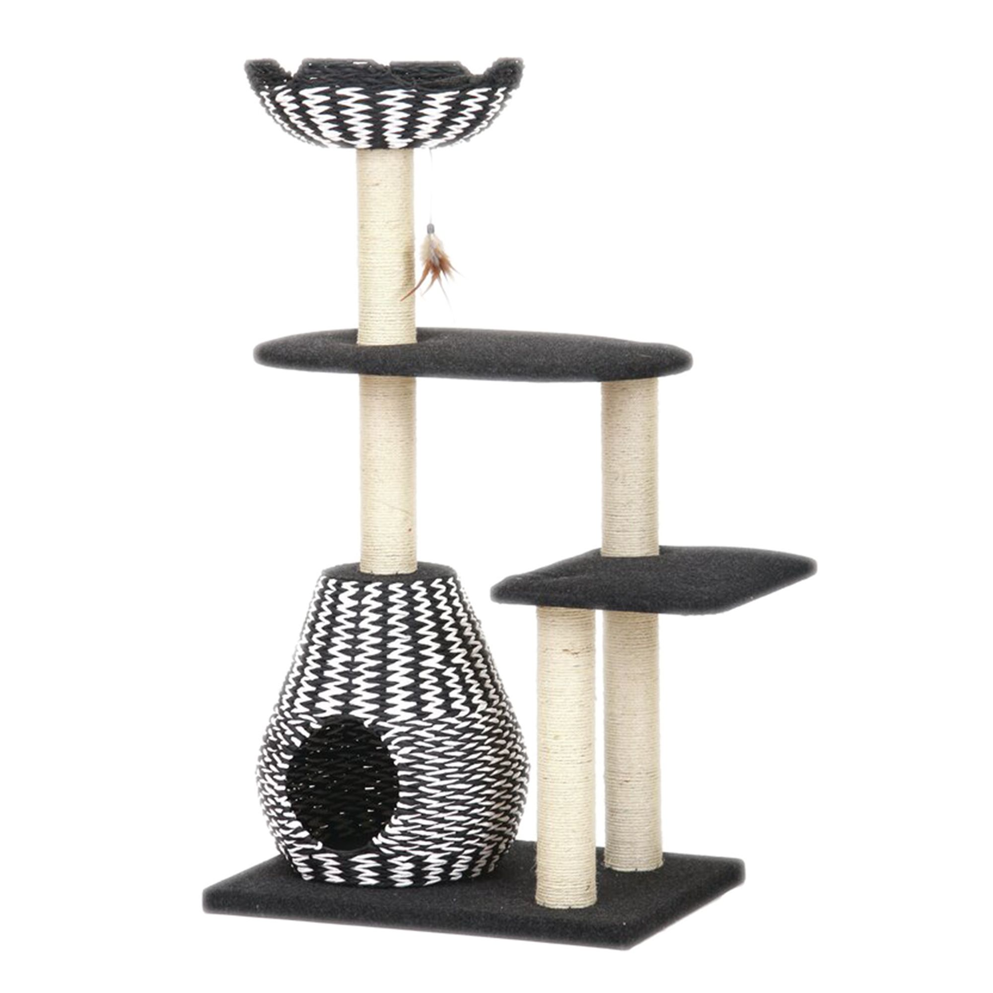 Petpals Ace Cat Tree Black Cream