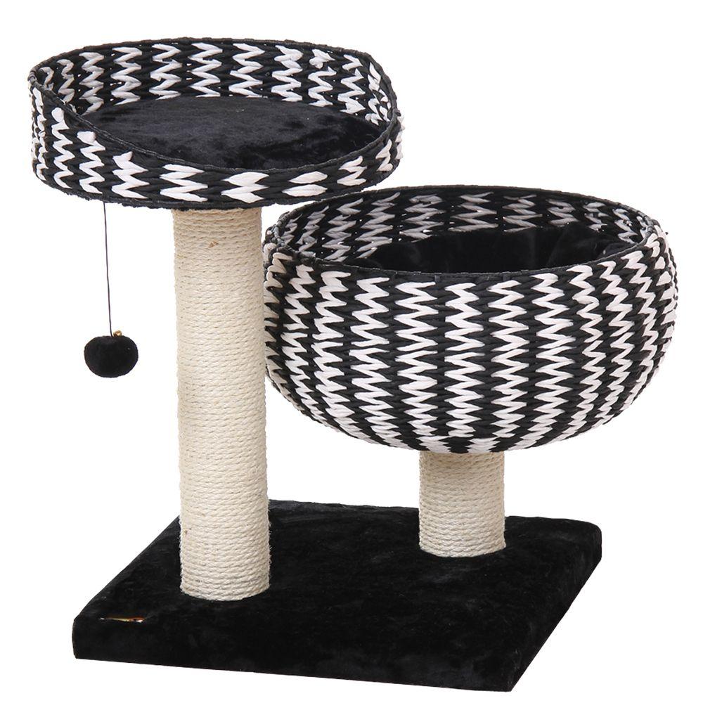 PetPals Jack Cat Tree, Black & Cream 5219891