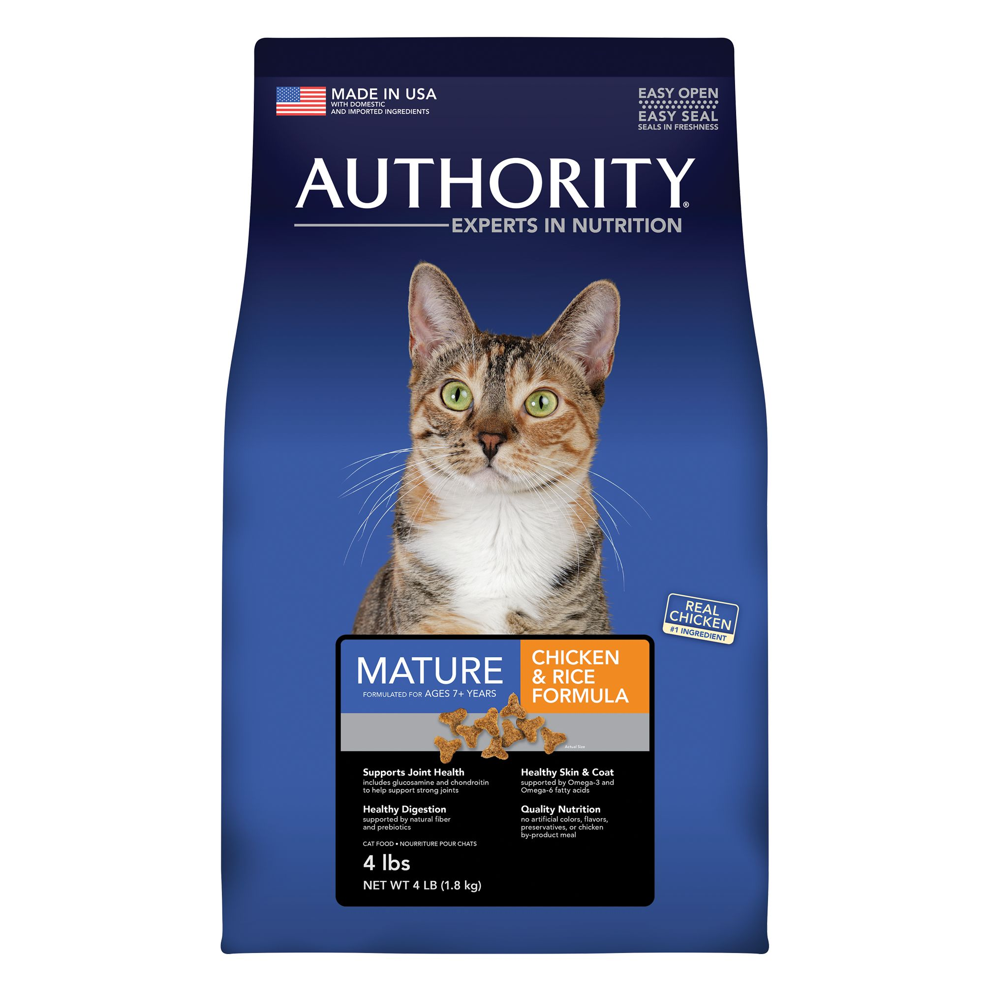 Authority Mature Adult Cat Food size: 4 Lb 5219916