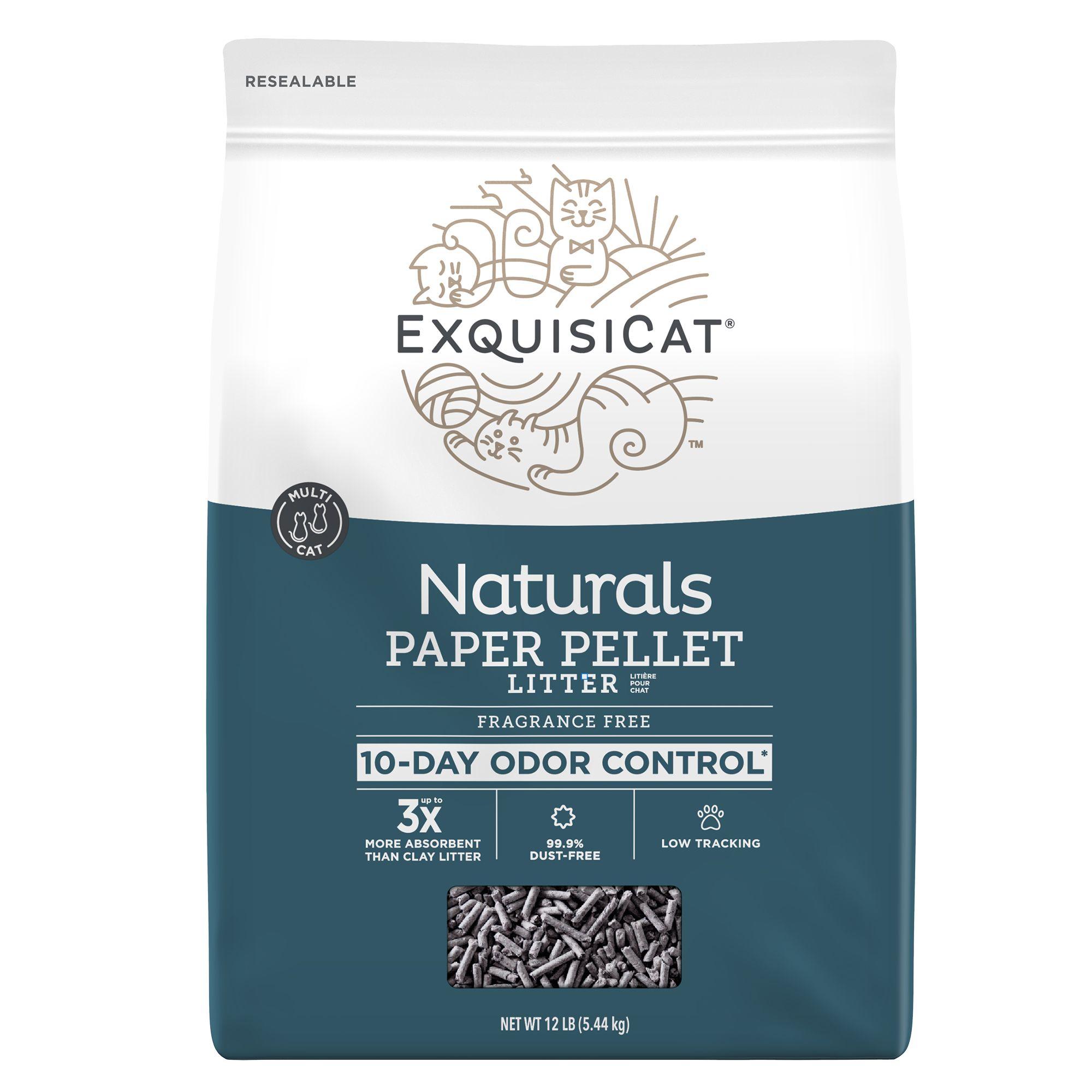 Exquisicat Naturals Paper Cat Litter Natural Fragrance Free Size 12 Lb
