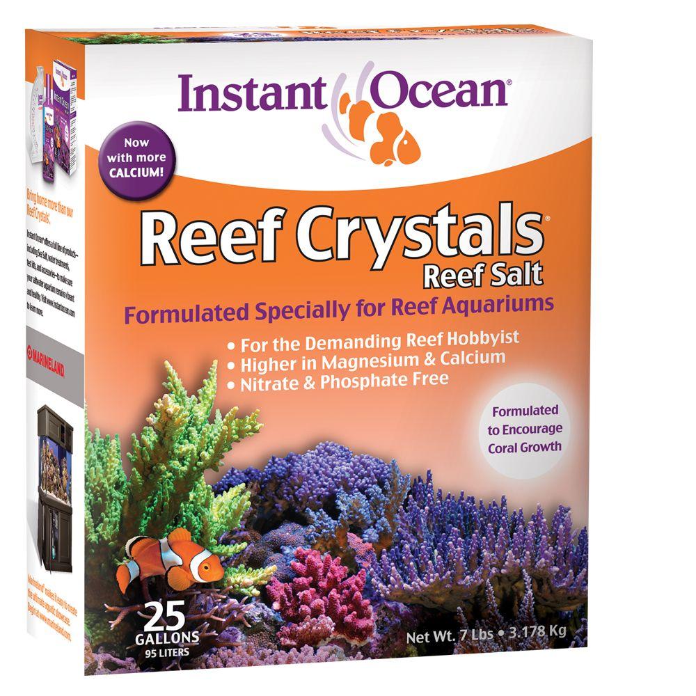 Instant Ocean Reef Crystals 25 Gallon Aquarium Salt