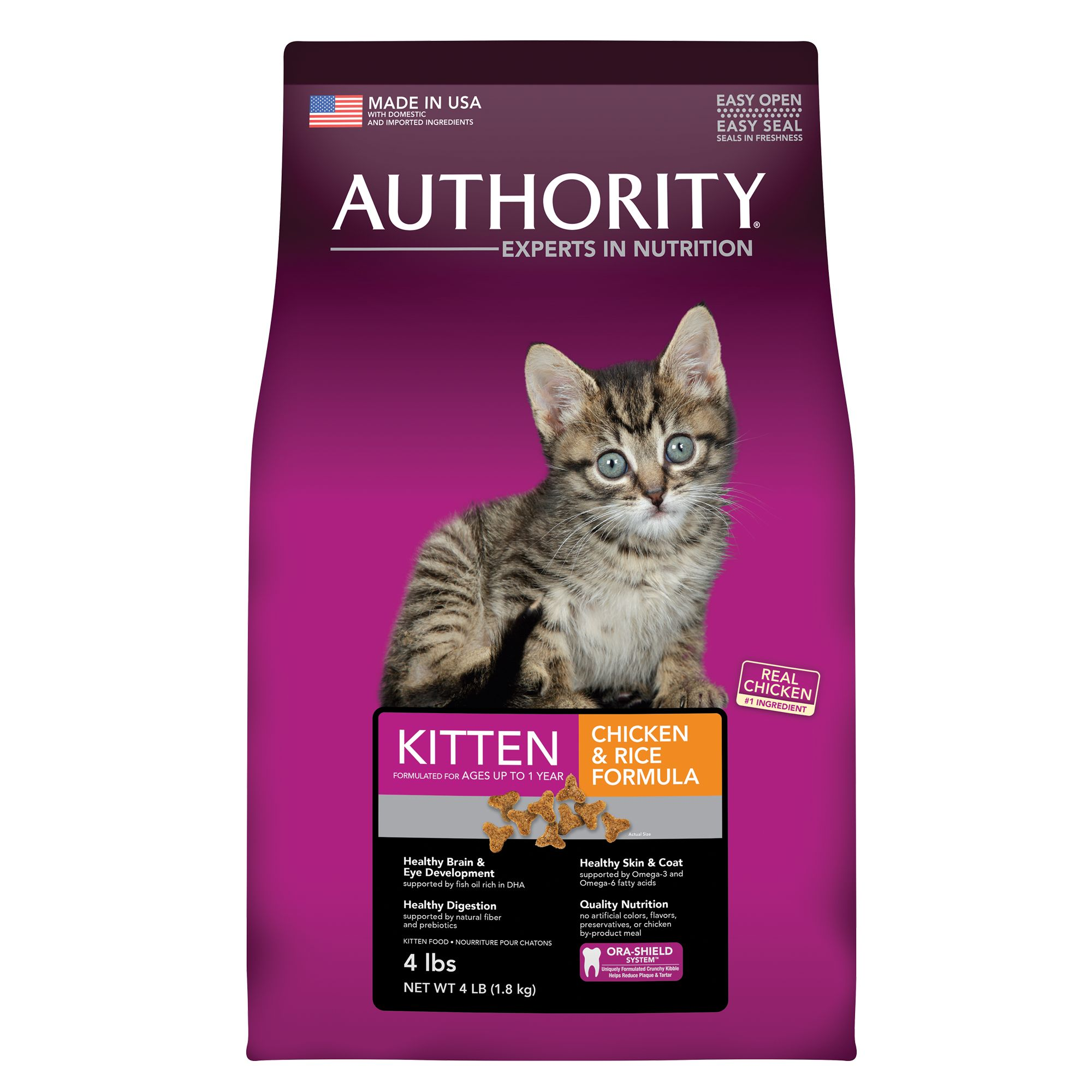 Authority® Kitten Food size: 4 Lb 5220291