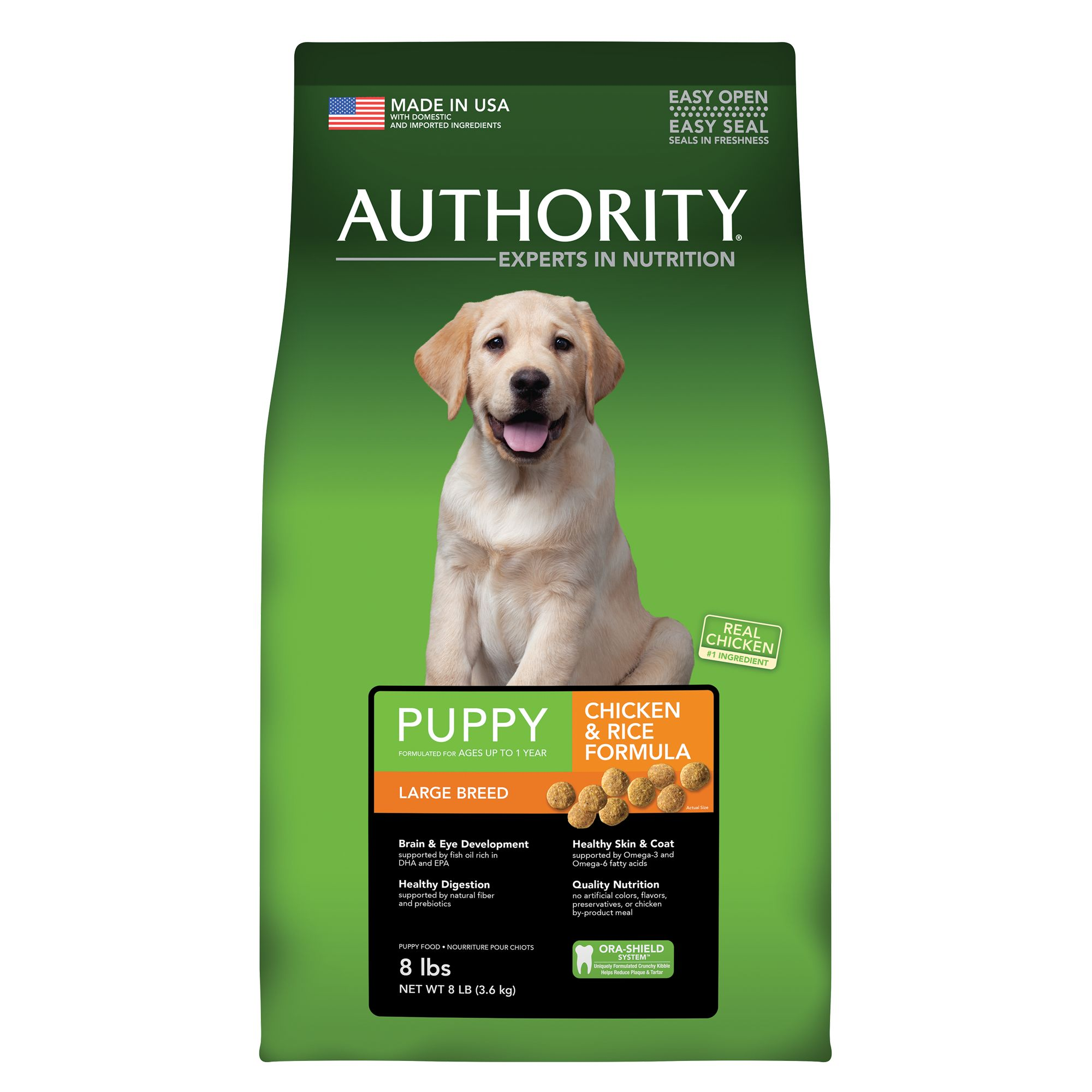 Authority® Large Breed Puppy Food - Chicken size: 8 Lb 5221173