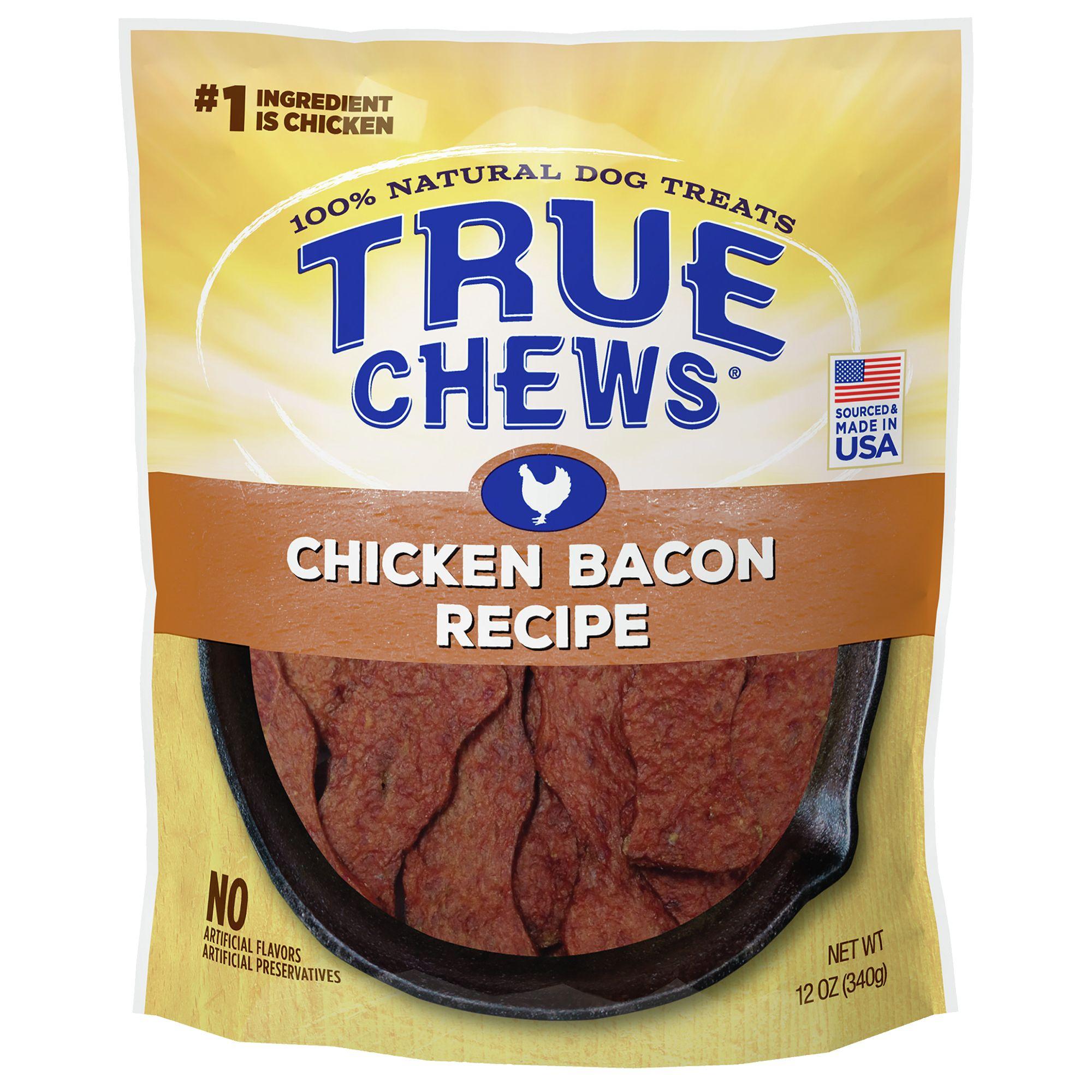True Chews® Premium Sizzlers Dog Treat - Natural, Chicken Bacon 5221549