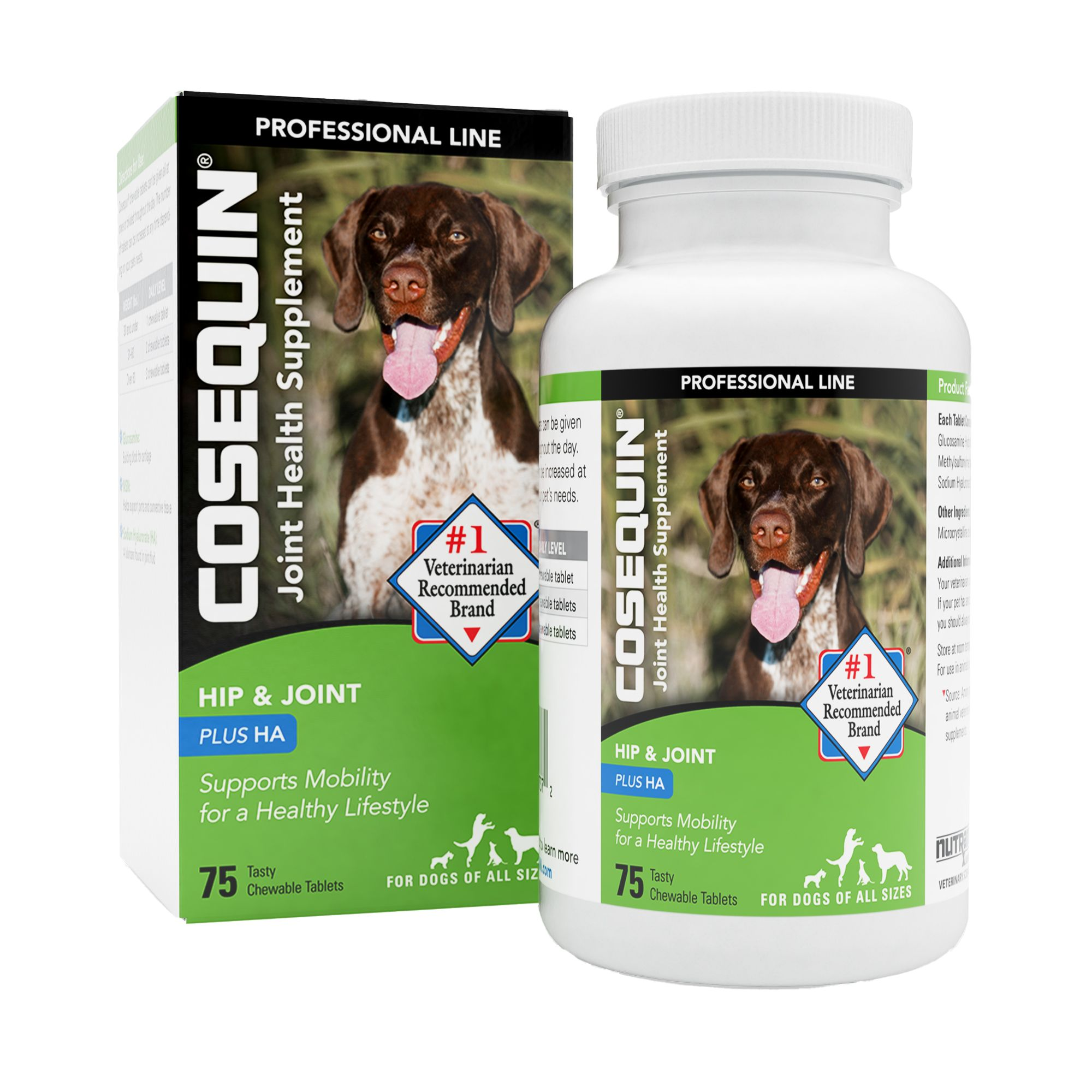 Cosequin Nutramax Professional Joint Health Dog Supplement Size 75 Count Nutramax Laboratories