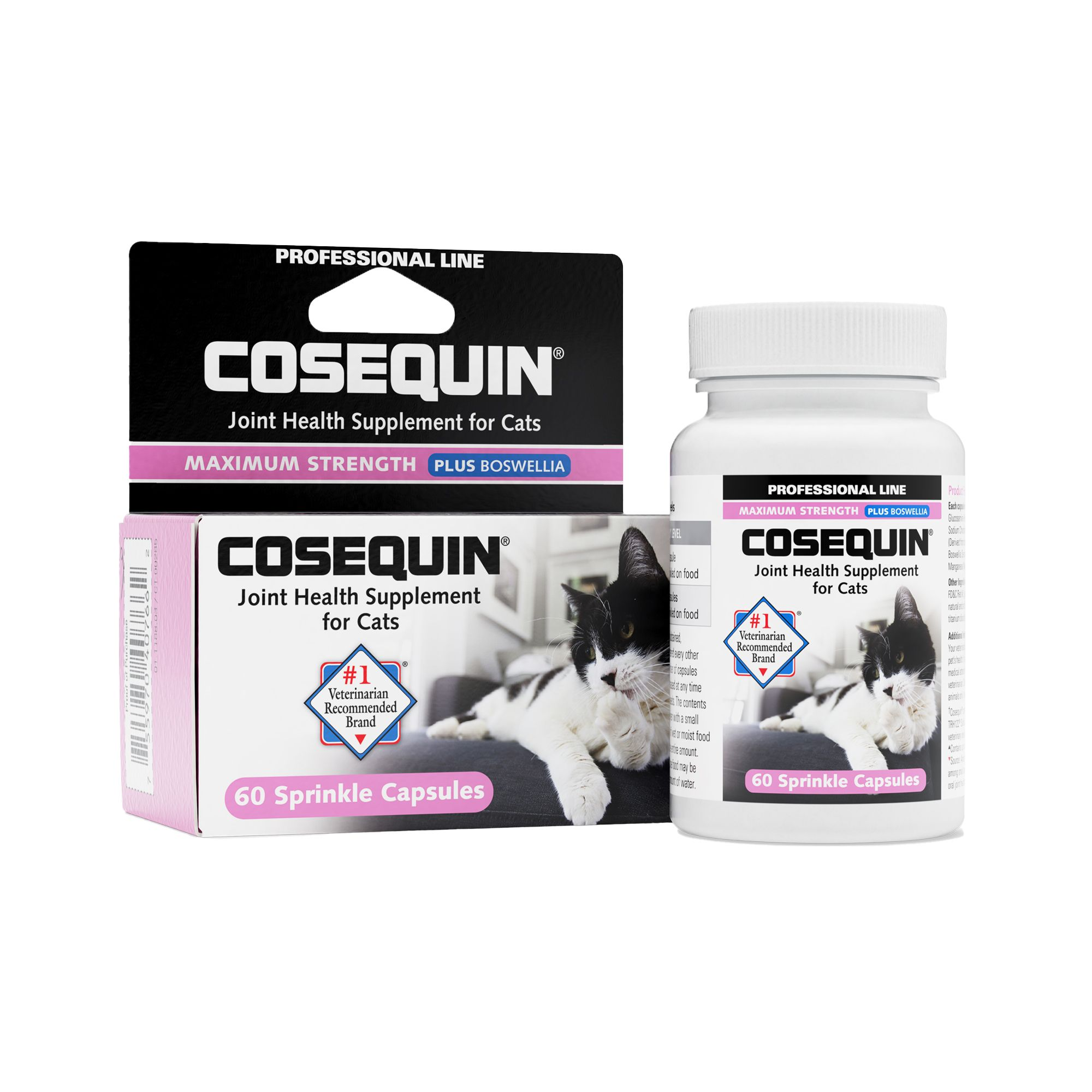 Cosequin Nutramax Professional Joint Health Cat Supplement Size 60 Count Nutramax Laboratories