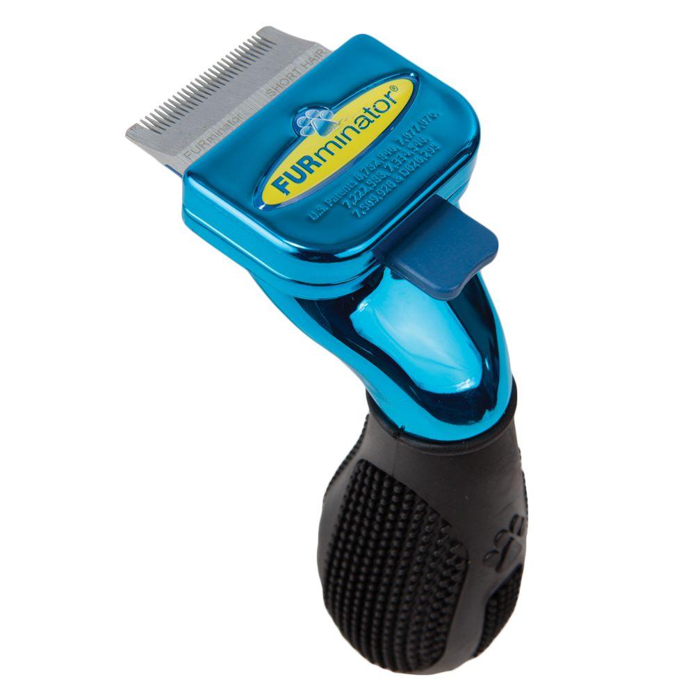 FURminator® deShedding Metallic Collection Short Hair Dog Tool Blue 5225029