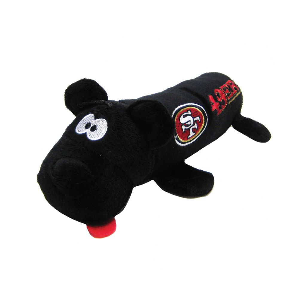 San Francisco 49ers NFL Tube Dog Toy, Pets First 5226144