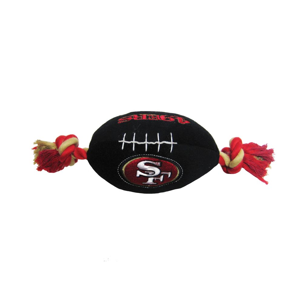 San Francisco 49ers NFL Football Dog Toy, Pets First 5226258