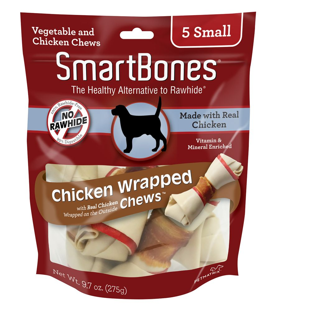 Smartbones Chicken Wrapped Small Chews Dog Treat Chicken Size 5 Count