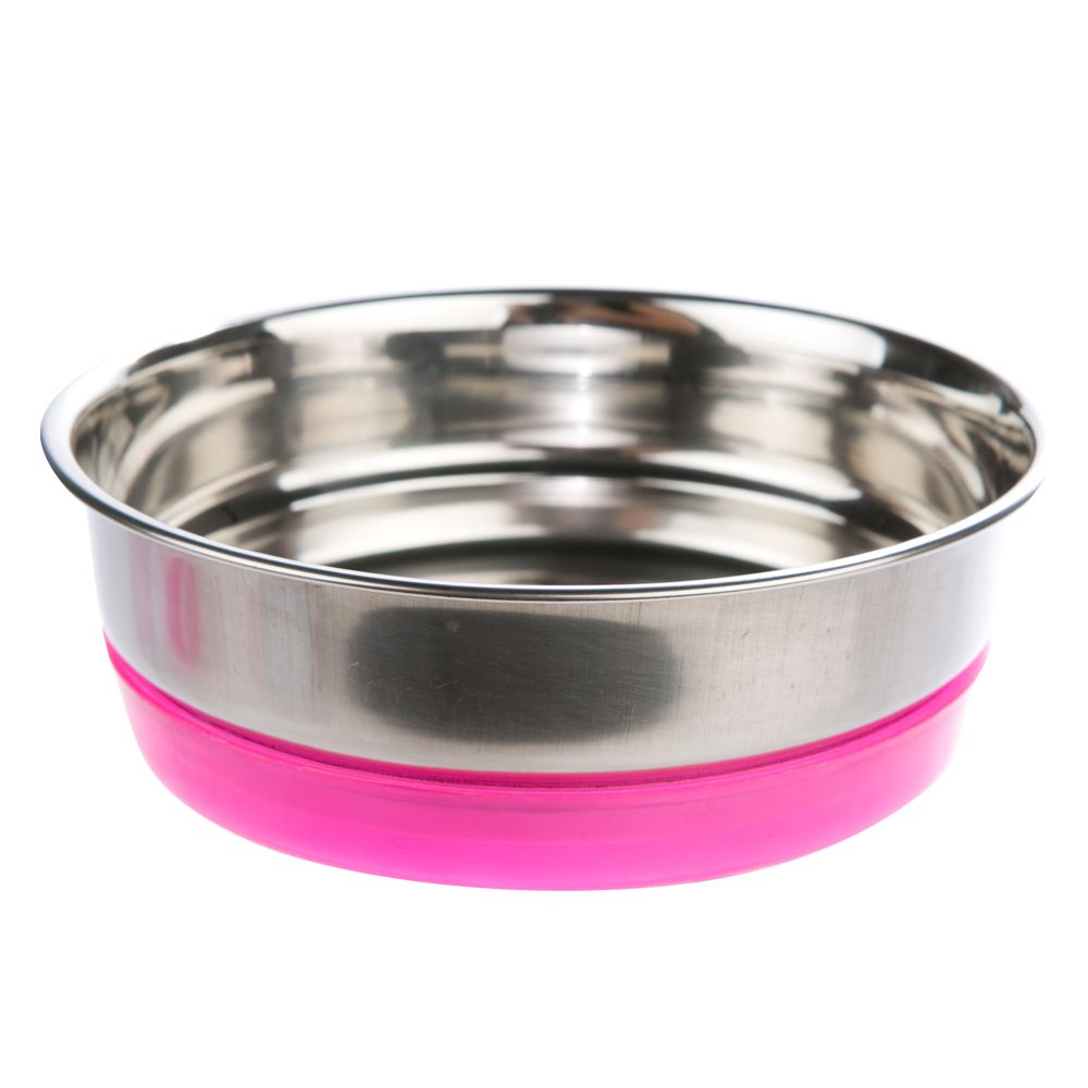 Whisker City Steel Bella Clip On Cat Bowl Pink