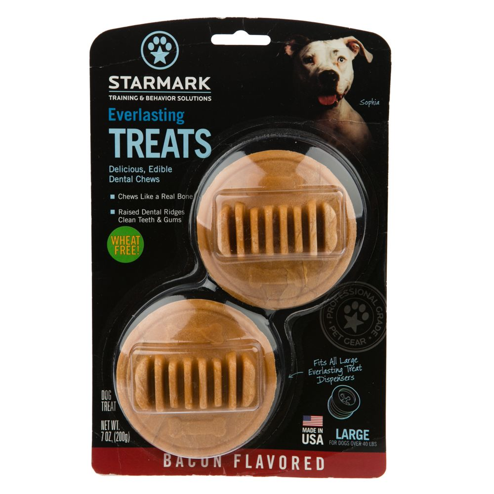 Starmark Everlasting Treats Dog Toy Treat Insert - Bacon Flavor size: Large 5226343