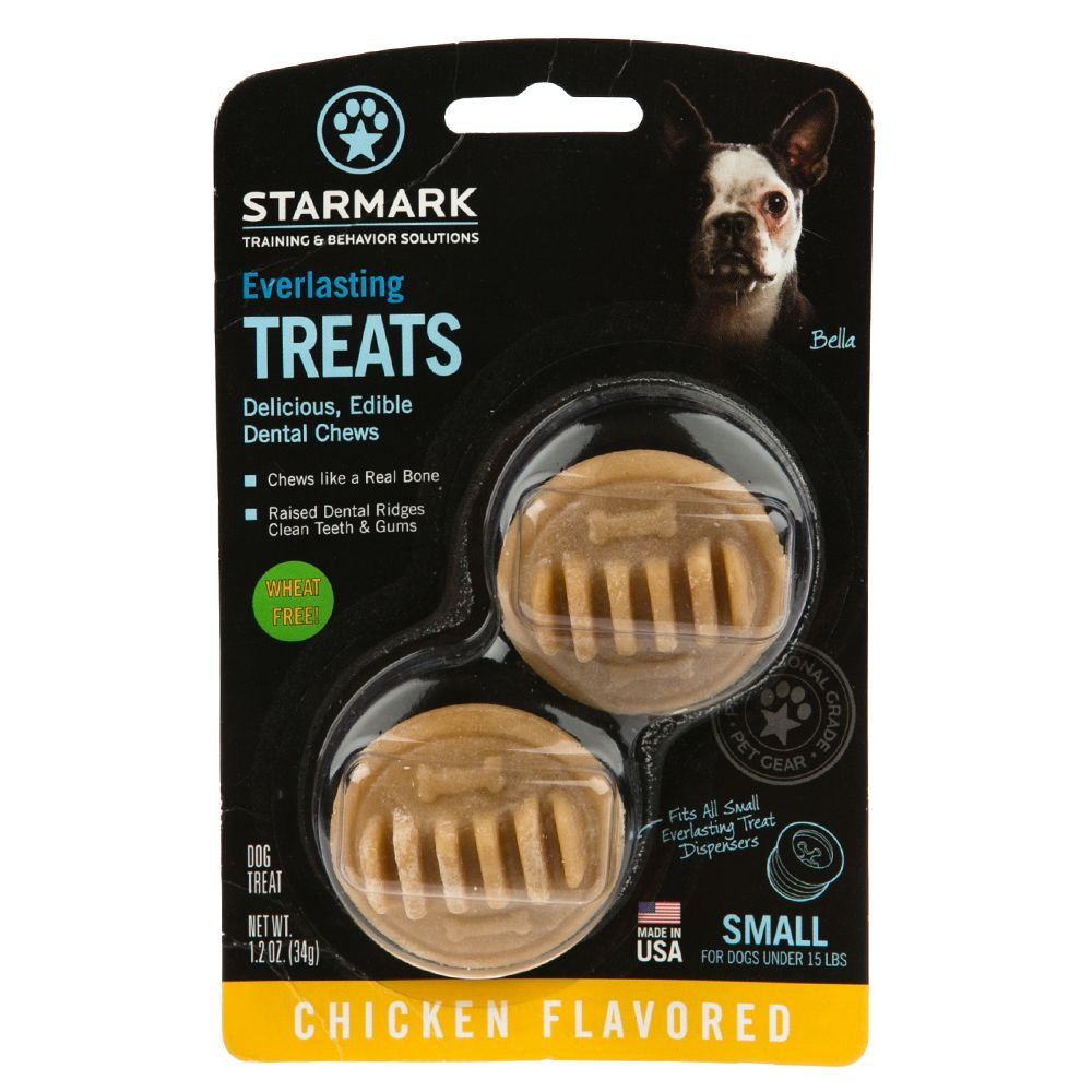 Starmark Everlasting Treats Dog Toy Treat Insert - Chicken Flavor size: Small 5226463
