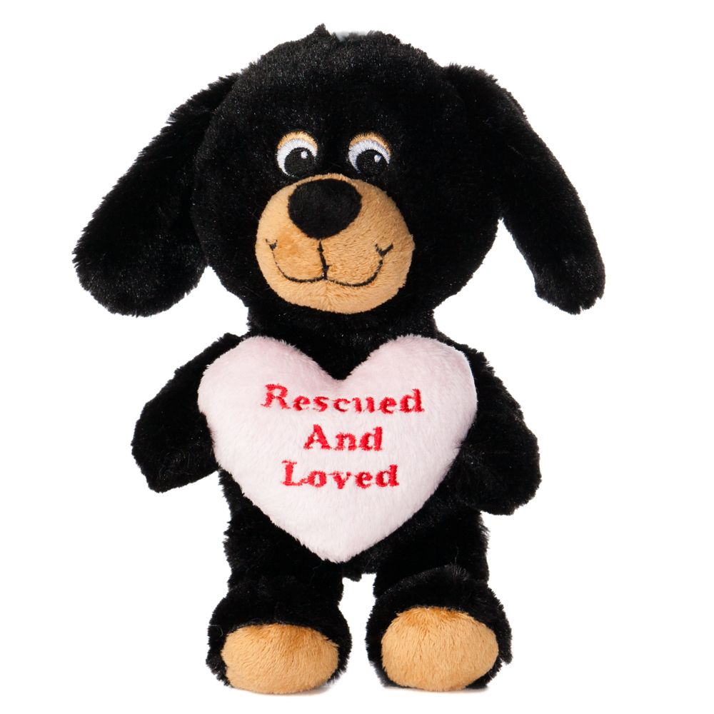 """Luv-A-Pet, """"Rescued and Loved"""" Squeaker Dog Toy 5226466"""