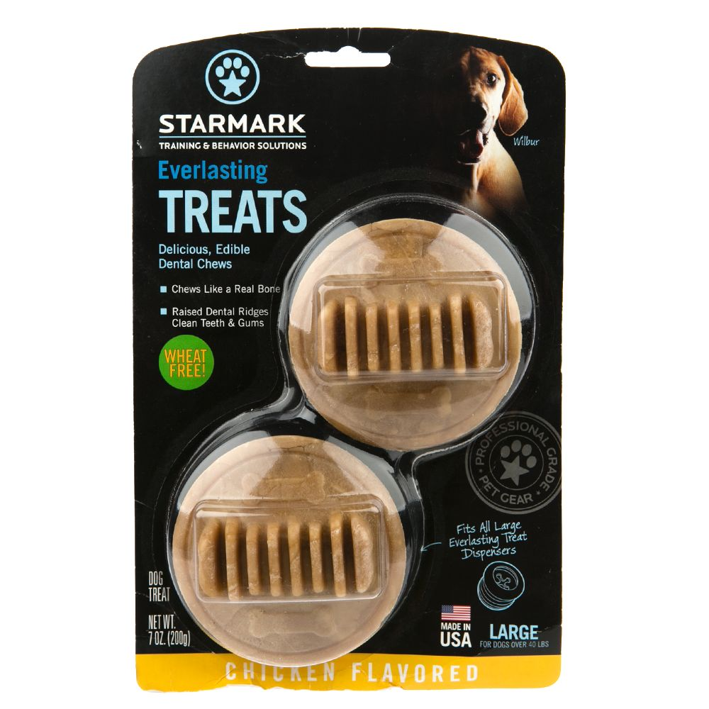 Starmark Everlasting Treats Dog Toy Treat Insert - Chicken Flavor size: Large 5226493