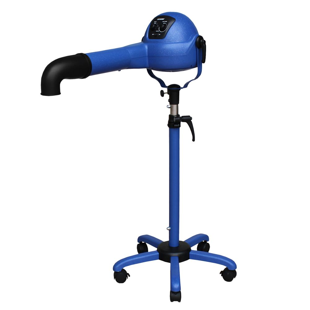 Xpower B 16 Variable Speed Brushless Dc Motor 1/4 Hp Stand Pet Dryer Blue