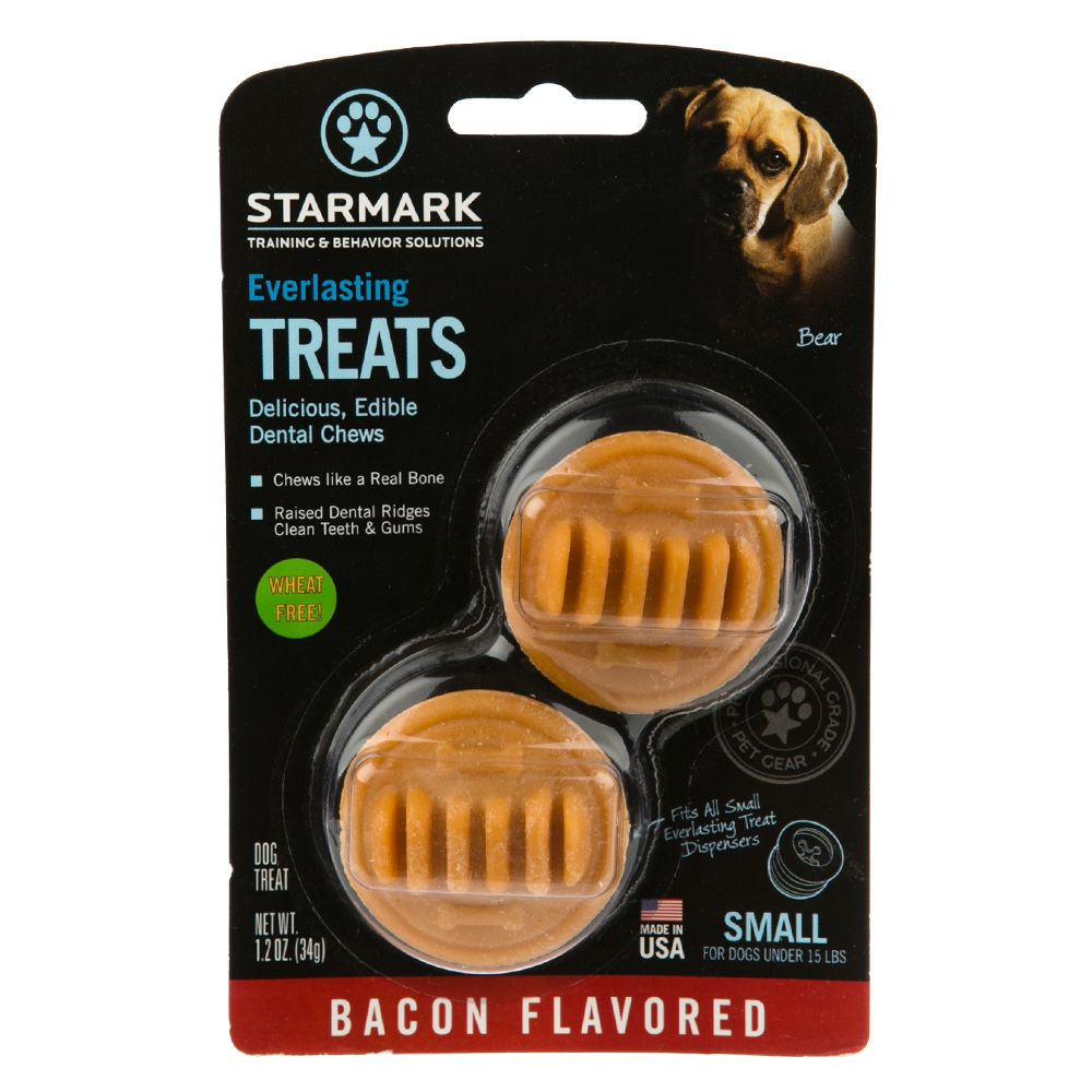 Starmark Everlasting Treats Dog Toy Treat Insert - Bacon Flavor size: Small 5226545
