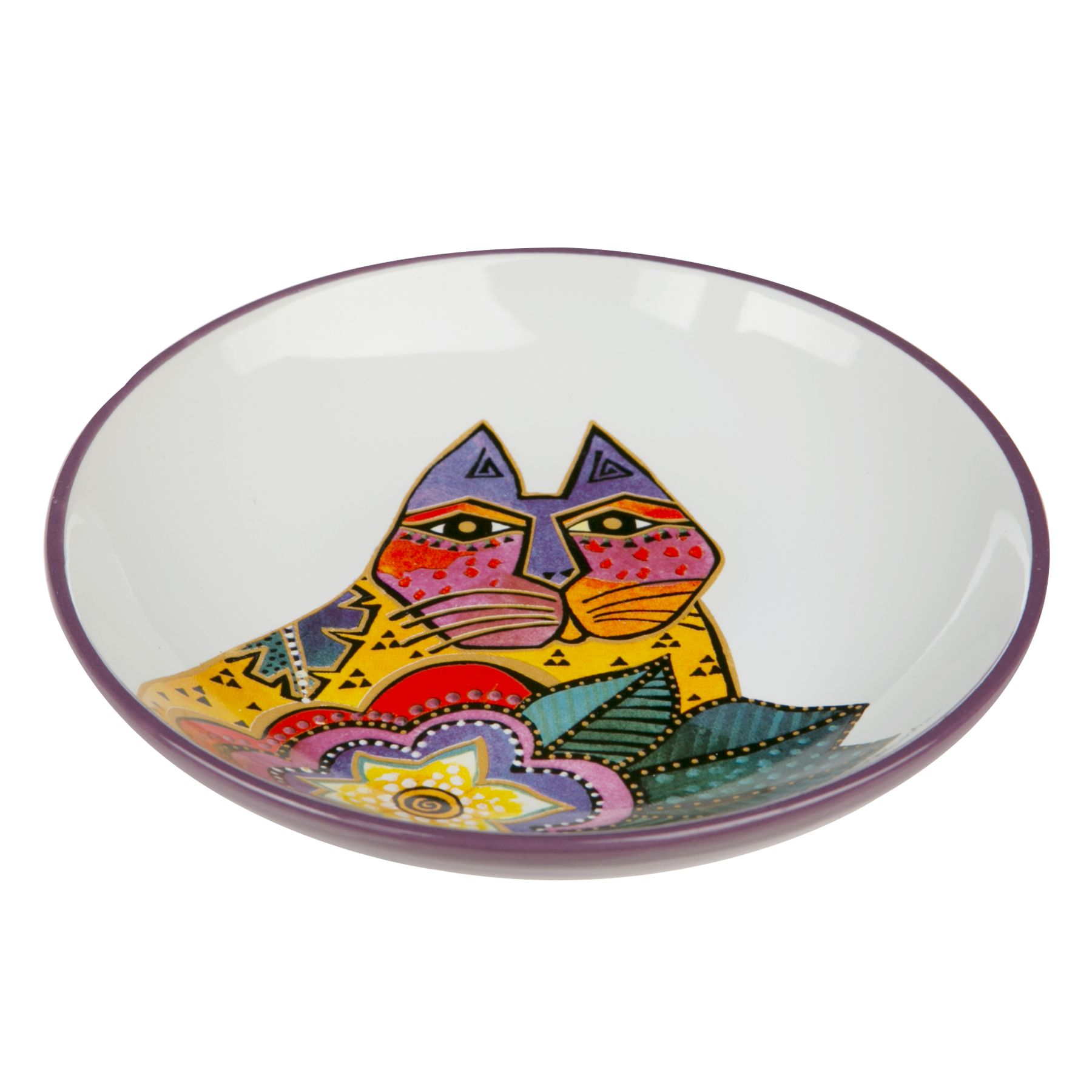 Laurel Burch Carlotta Cat Saucer Size 5 Fl Oz