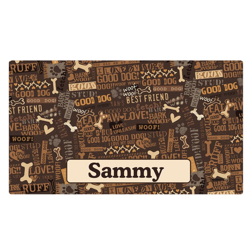 Drymate Best Friend Personalized Placemat Size 16l X 28w Brown