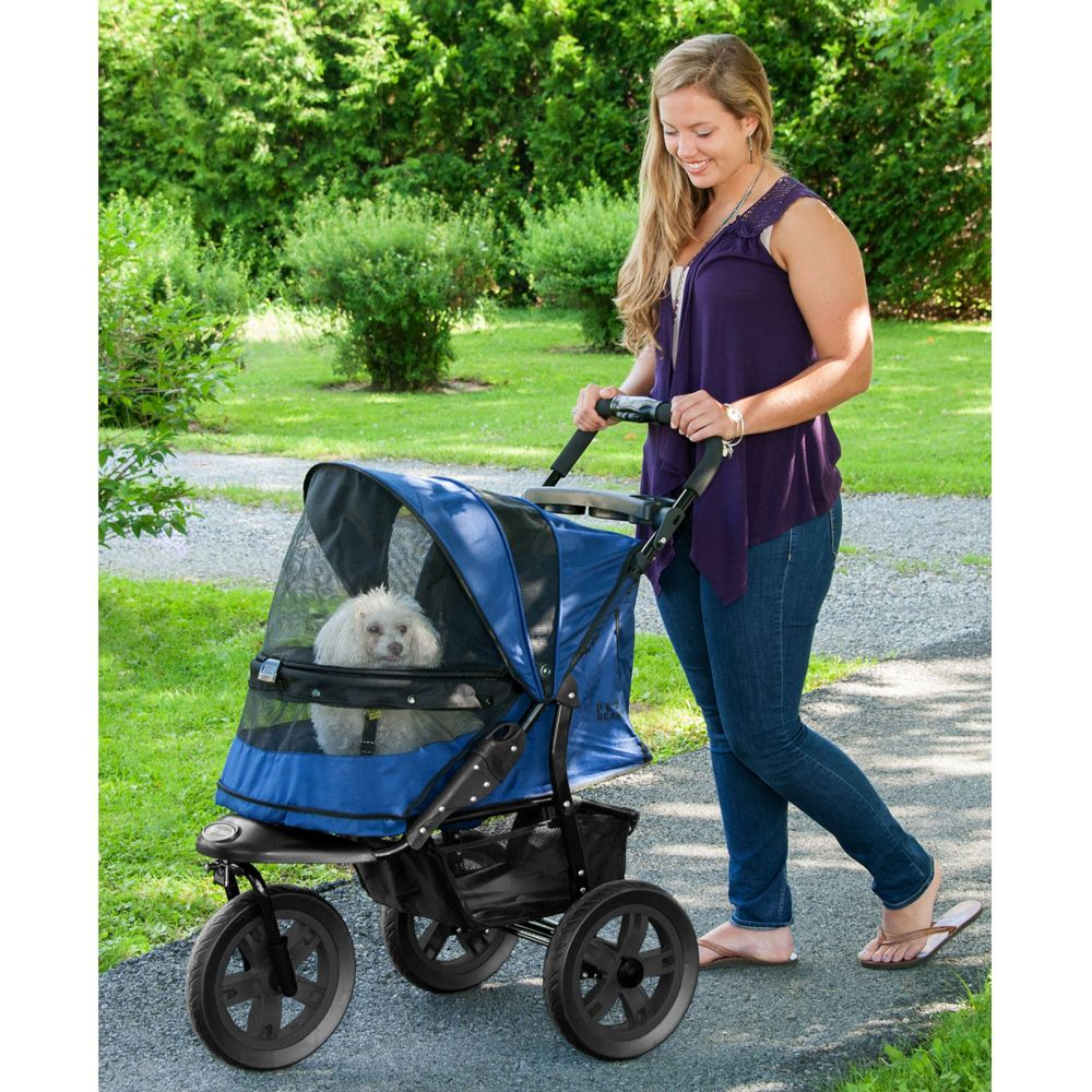 Pet Gear At3 No Zip Pet Stroller Blue