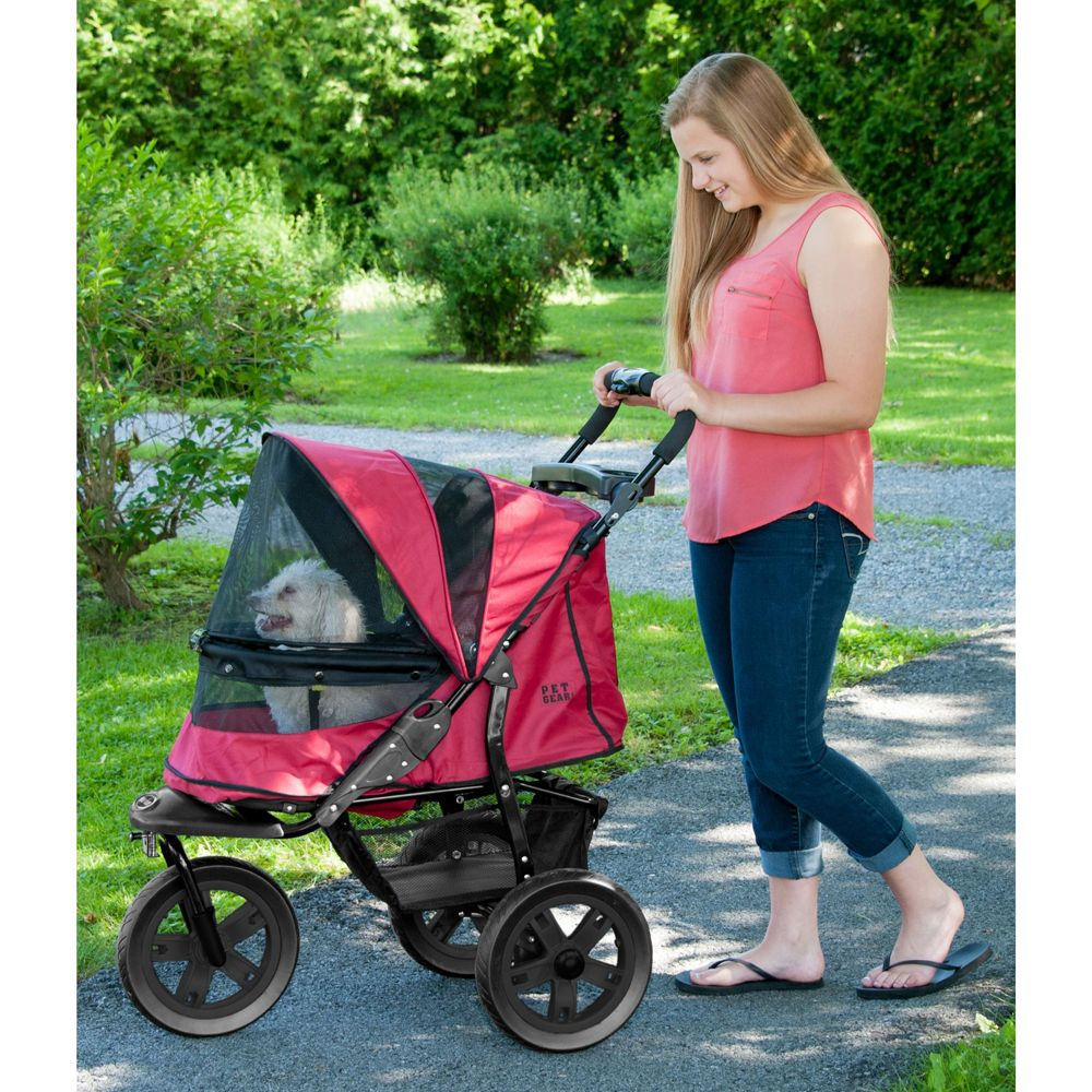 Pet Gear At3 No Zip Pet Stroller Red