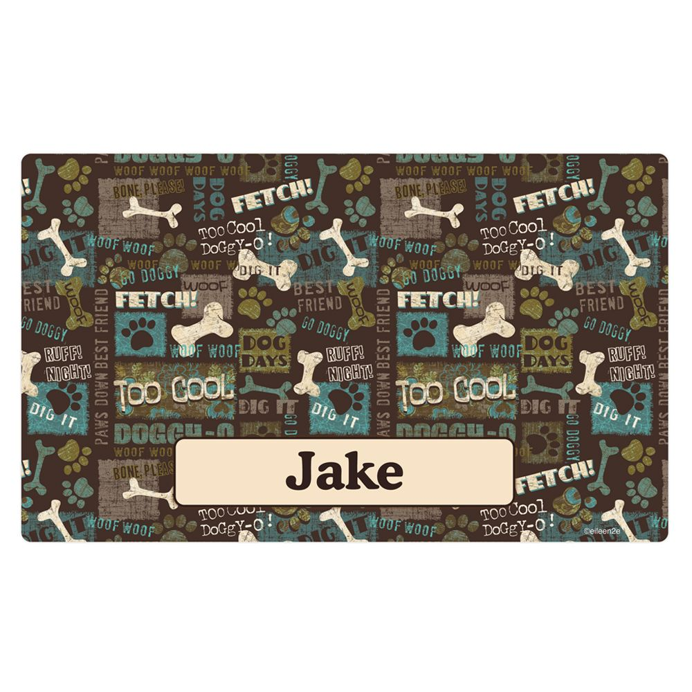 Drymate Best Friend Personalized Placemat Size 12l X 20w Green