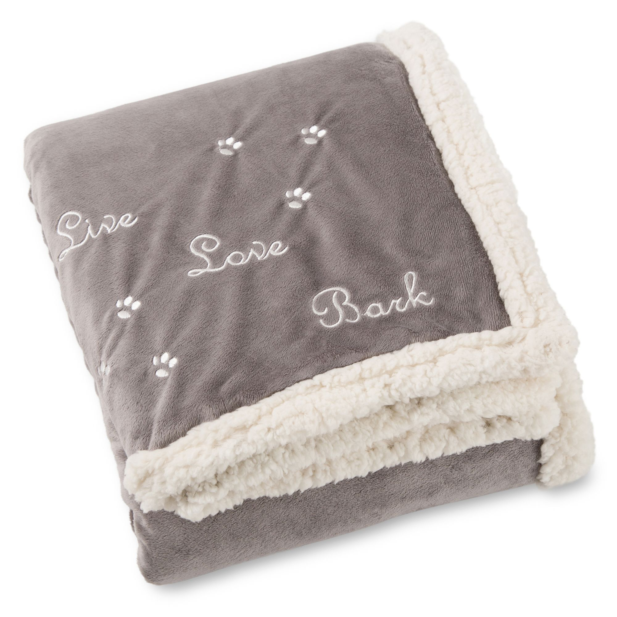 Best Friends By Sheri Pet Throw Blanket Gray