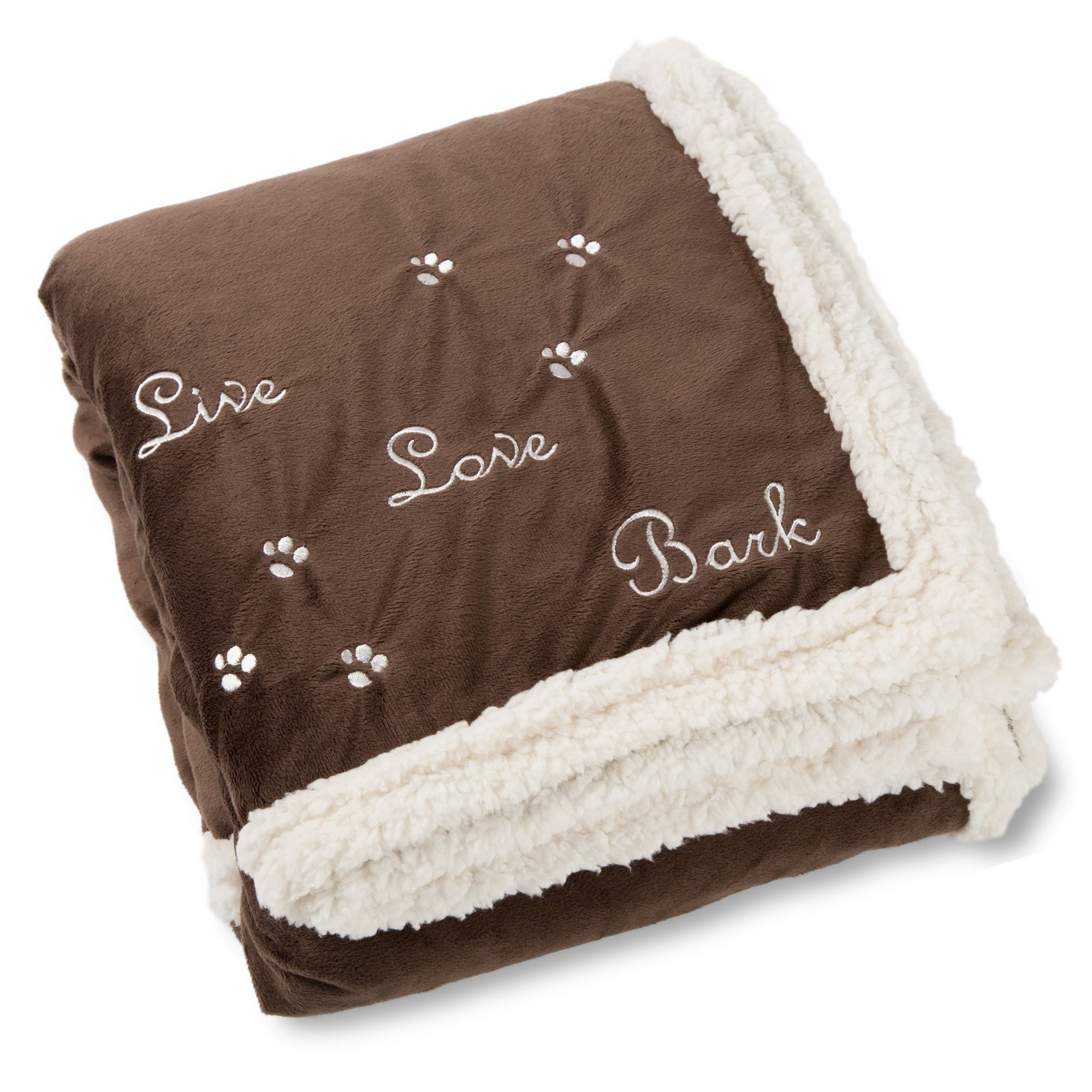 Best Friends By Sheri Pet Throw Blanket Brown