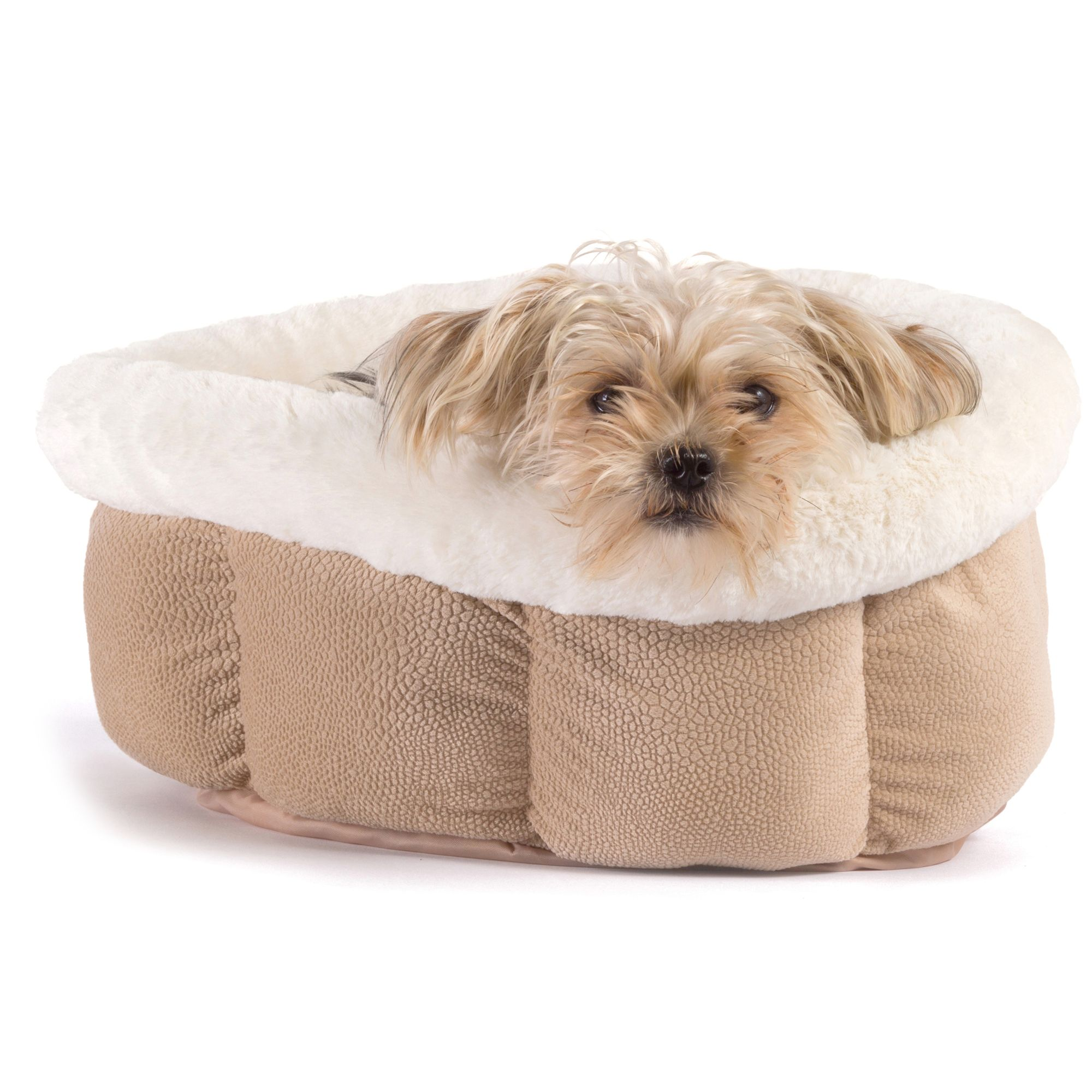 Best Friends By Sheri Cuddle Cup Pet Bed Wheat