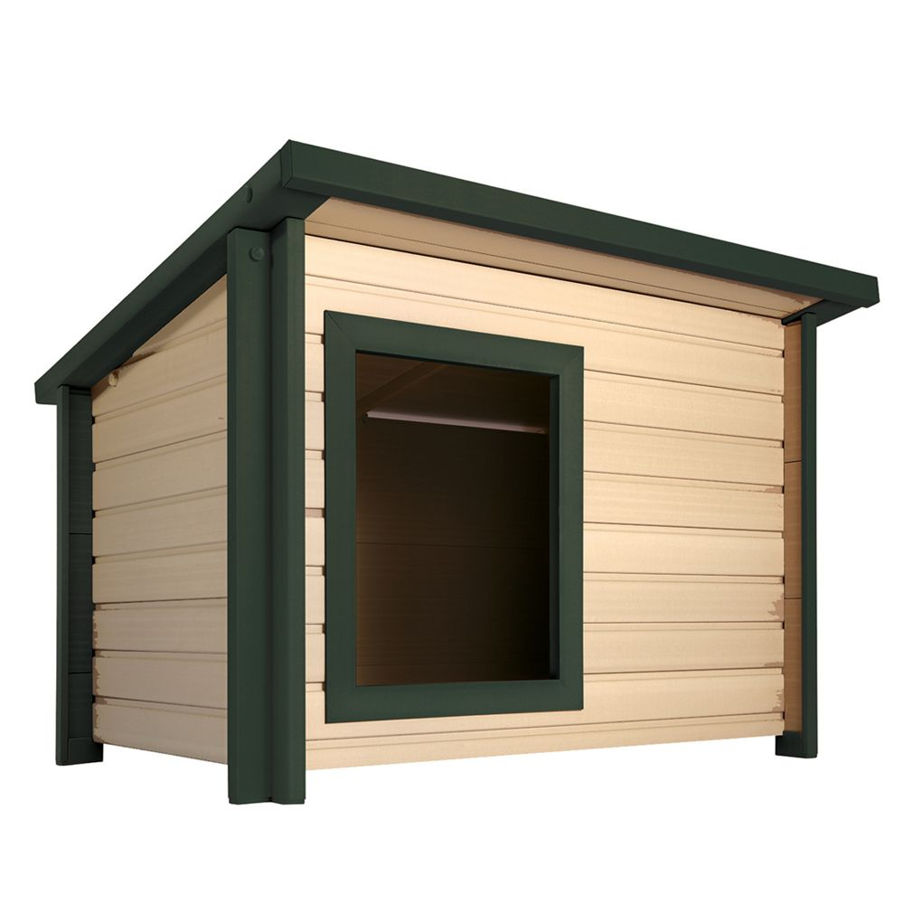 New Age Ecoflex Rustic Lodge Dog House Size 32.9l X 42.1w X 29.7h
