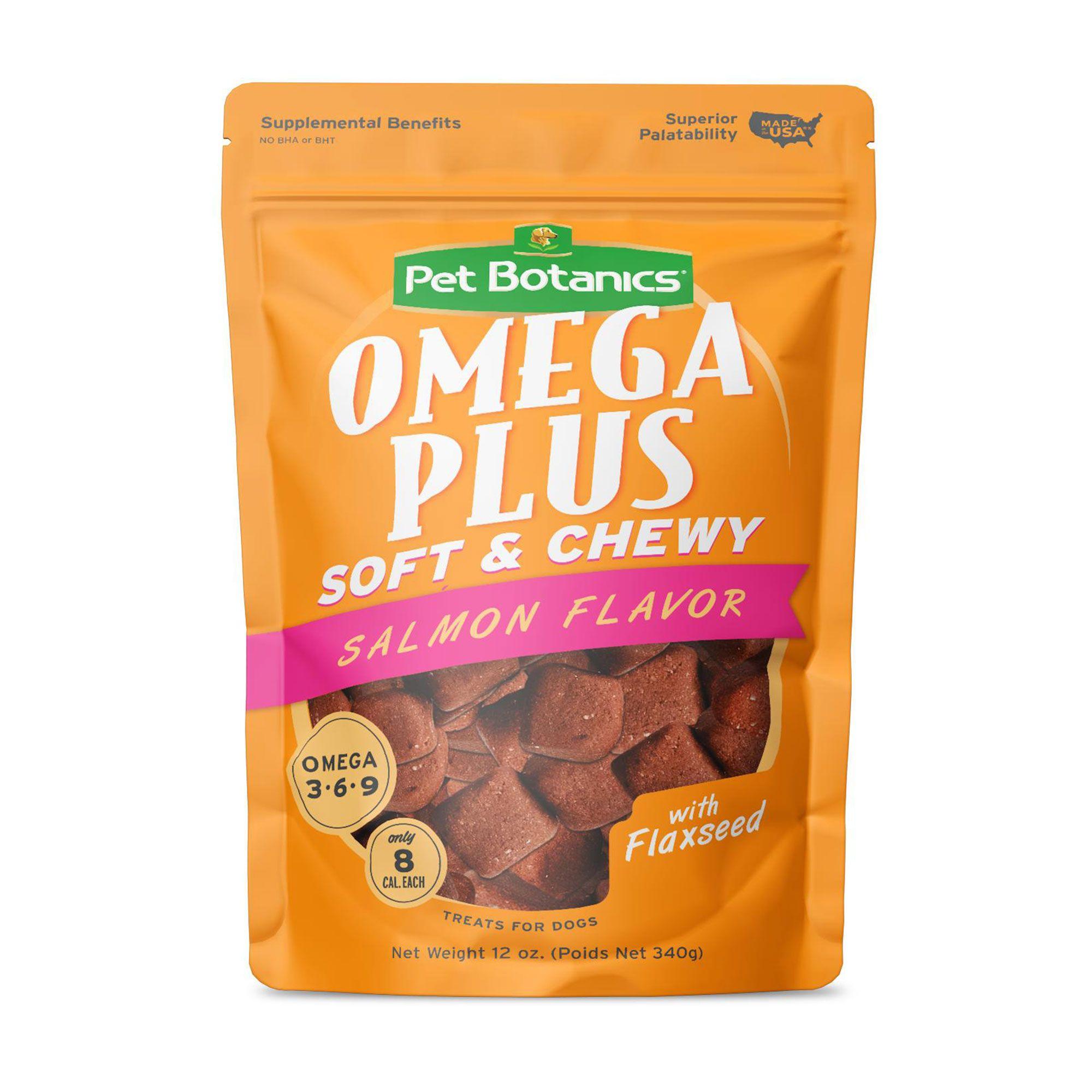Pet Botanics Omega Treats Dog Treat Grain Free Natural Salmon Size 12 Oz