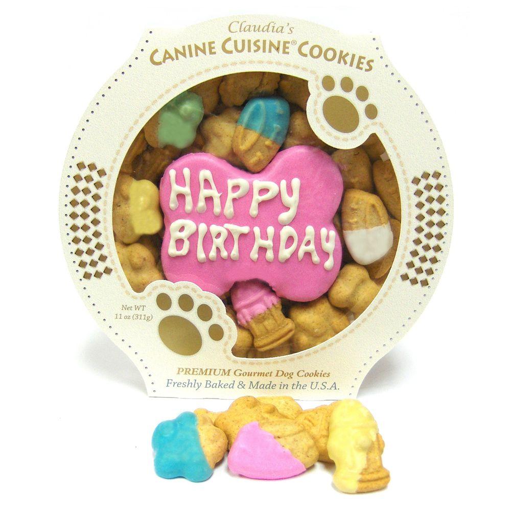 Claudias Canine Cuisine Pink Birthday Cookie Dog Treat Claudias Cuisine Peanut Butter Crunchy All Stages Wheat Flour