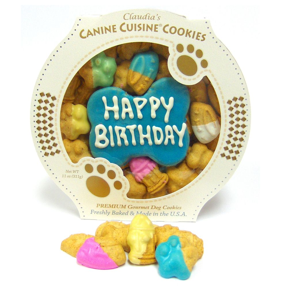 Claudias Canine Cuisine Blue Birthday Cookie Dog Treat Claudias Cuisine