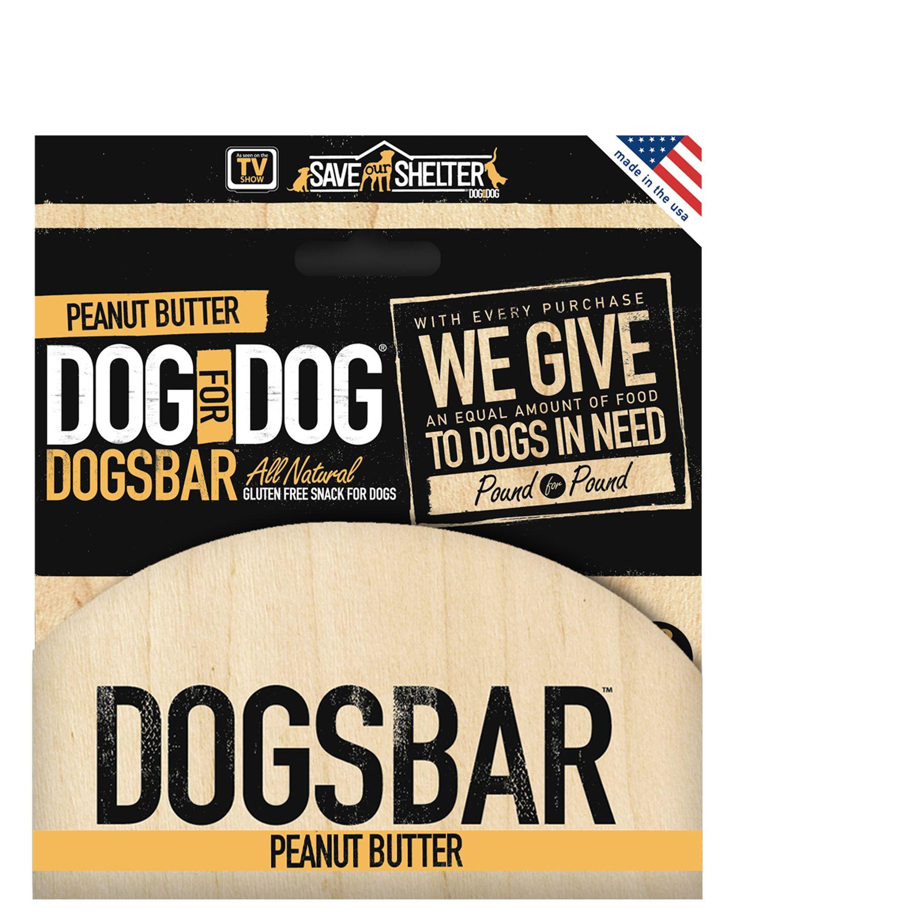 Dog For Dog Dogsbar 12 Pack Natural Peanut Butter Dog Treat Size 12 Count