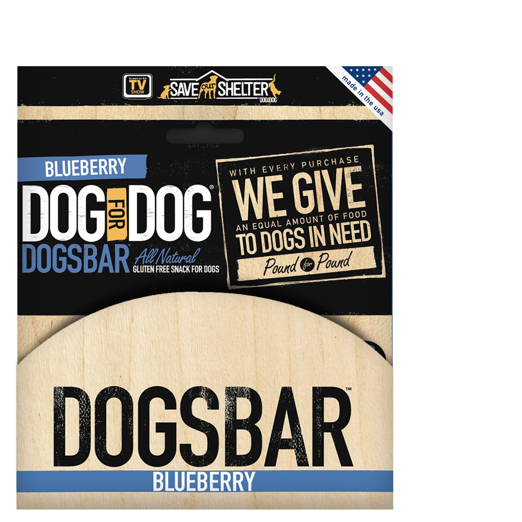 Dog For Dog Dogsbar 12 Pack Natural Blueberry Dog Treat Size 12 Count