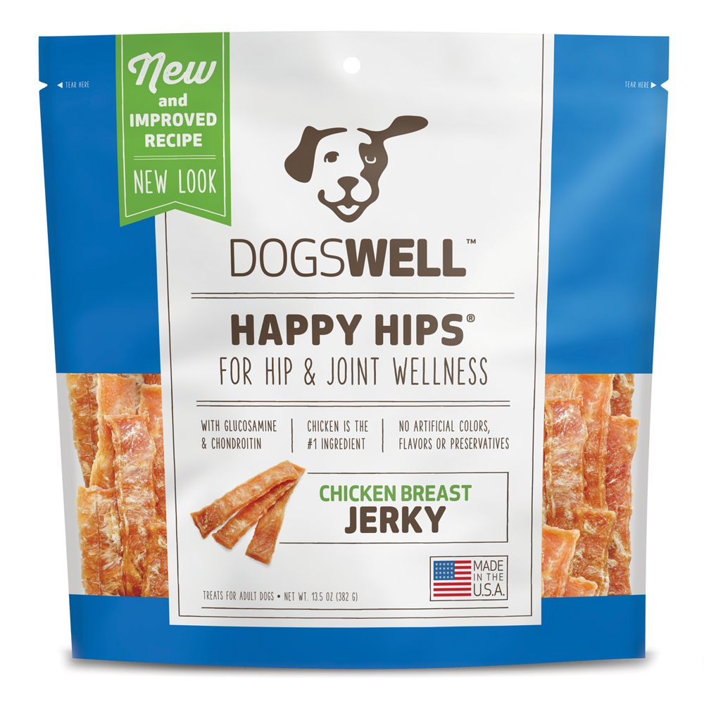 Dogswell Happy Hips Dog Treat Hip And Joint Health Chicken Breast Jerky Size 13.5 Oz
