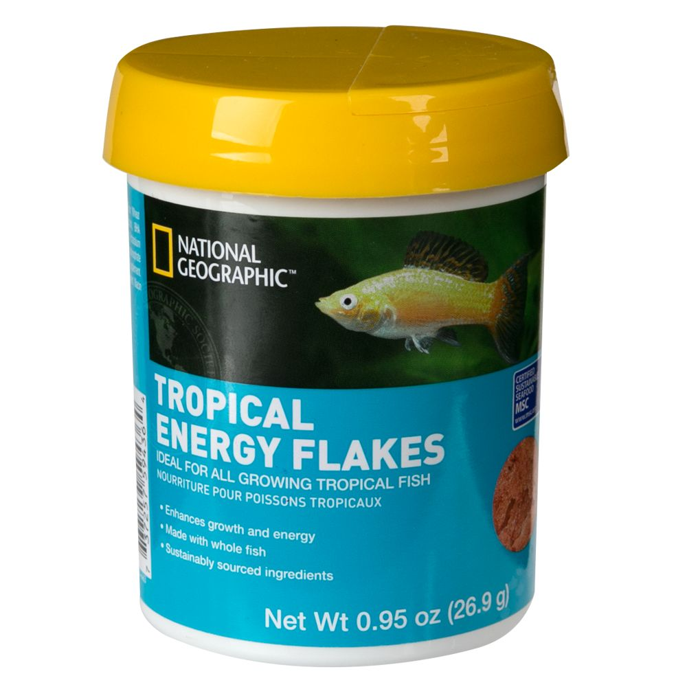 National Geographic Tropical Energy Fish Food Size 0.95 Oz