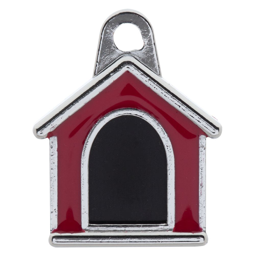 Tagworks Dog House Pet Id Tag Red